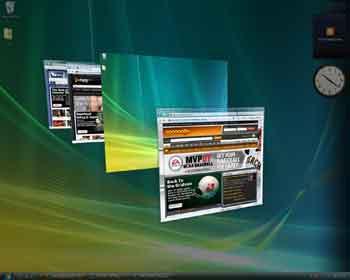 نمایش سه بعدی پنجره ها ویندوز ویستا