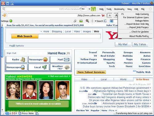 آینه چین کردن فایرفاکس