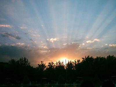 Sunset of Lale Park, Tehran