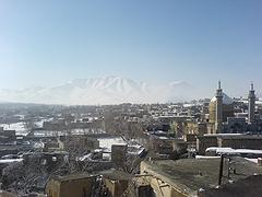 امامزاده سنجان، کوه سفیدخانی (سیفیدخنه) در یک روز آغازین زمستانی