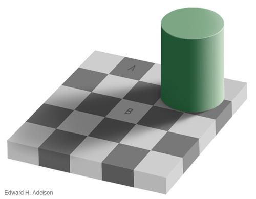 خطای چشم صفحه شطرنجی ادوارد ادلسون