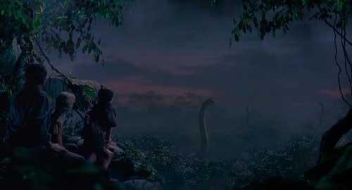 صحنه ای از فیلم پارک ژوراسیک با حضور براکیوساروسها