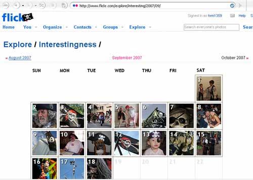 روز جهانی صحبت به سبک یک دزد دریایی در تقویم فلیکر