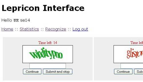 نمایی از نرمافزارهای حل کپچا با کمک اپراتورهای انسانی