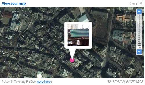 نمایش خودکار موقعیت عکس در فلیکر