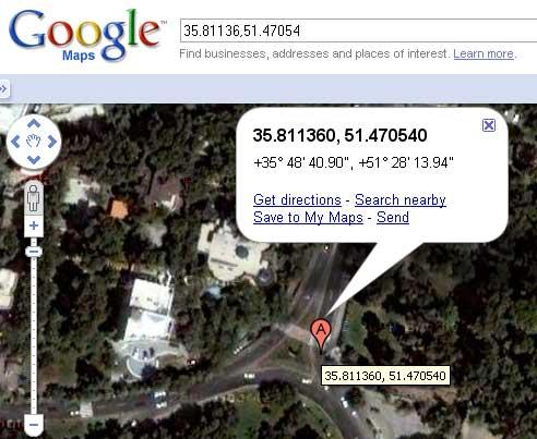 موقعیت محل روی نقشههای گوگل