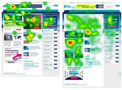 نقاط داغتر یک صفحهی وب